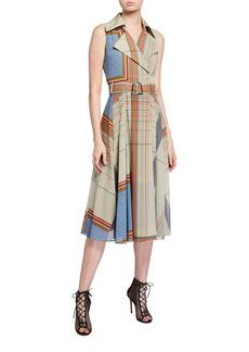 Akris Scarf-Print Trench Dress