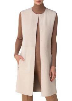Akris Shearling Snap-Front Reversible Vest