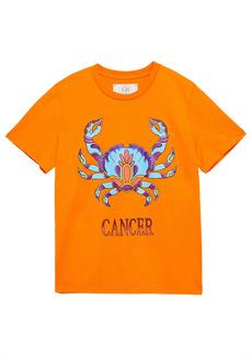 Alberta Ferretti Woman Love Me Starlight Printed Organic Cotton-jersey T-shirt Orange