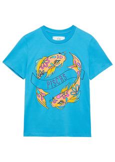 Alberta Ferretti Woman Love Me Starlight Printed Organic Cotton-jersey T-shirt Turquoise