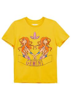 Alberta Ferretti Woman Love Me Starlight Printed Organic Cotton-jersey T-shirt Yellow