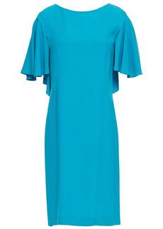 Alberta Ferretti Woman Ruffled Crepe Dress Turquoise
