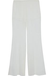 Alberta Ferretti Woman Silk-chiffon Flared Pants White