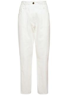 Alberta Ferretti Bull High Waist Cotton Pants