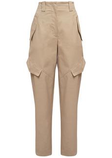 Alberta Ferretti Stretch Cotton Gabardine Cargo Pants
