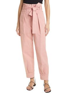 A.L.C. Cobolt Belted Paperbag Twill Pants