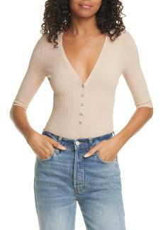 A.L.C. Toni Knit V-Neck Bodysuit