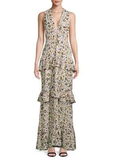 A.L.C. Brie Silk Floor-Length Dress