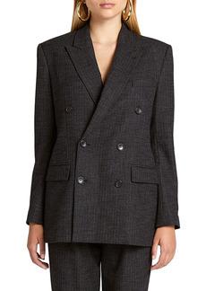 Women's A.l.c. Chadwick Metallic Stripe Double Breasted Blazer