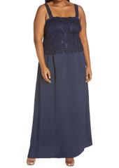 Alex Evenings Alex Evening A-Line Gown & Lace Jacket (Plus Size)