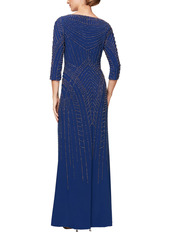 Alex Evenings Beaded Jersey A-Line Gown