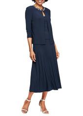 Alex Evenings Beaded Jersey Dress & Jacket
