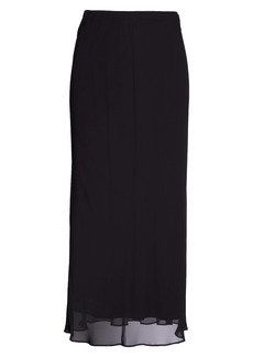 Alex Evenings Chiffon Maxi Skirt (Plus Size)