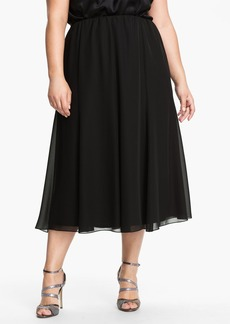 Alex Evenings Chiffon Midi Skirt (Plus Size)