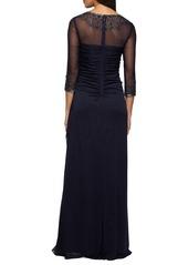 Alex Evenings Embellished Chiffon Gown (Regular & Petite)