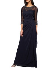 Alex Evenings Embellished Chiffon Gown (Regular & Petite)