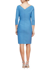Alex Evenings Embellished Ruched Sheath Dress (Regular & Petite)