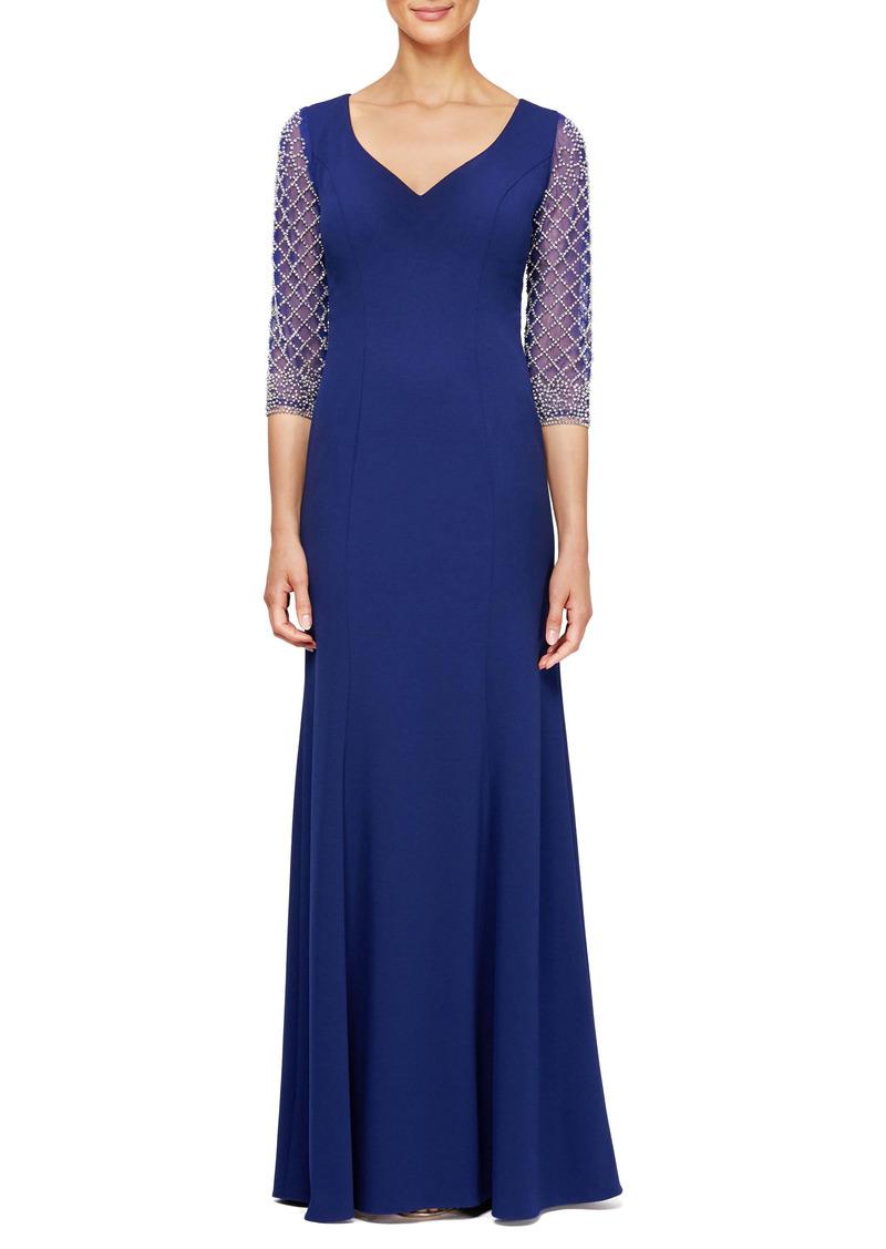 Alex Evenings Embellished Sleeve Dress