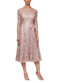 Alex Evenings Embroidered Cocktail Dress