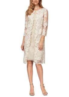 Alex Evenings Embroidered Jacket Dress