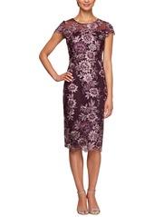 Alex Evenings Embroidered Sheath Dress (Regular & Petite)