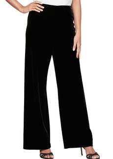 Alex Evenings Flat Front Velvet Pants