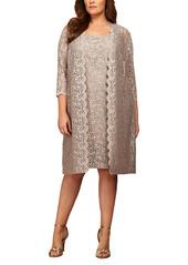 Alex Evenings Lace Jacket Dress (Plus Size)