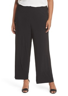 Alex Evenings Matte Jersey Straight Leg Pants (Plus Size)
