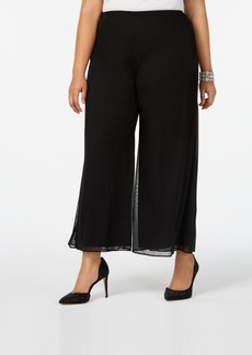Alex Evenings Plus Size Cropped Wide-Leg Pants