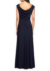 Alex Evenings Ruched Column Gown (Regular & Petite)