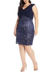 Alex Evenings Sequin Lace Cocktail Dress (Plus Size)
