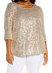 Alex Evenings Sequin Tunic (Plus Size)