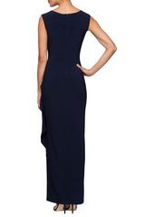 Alex Evenings Side Ruched Gown