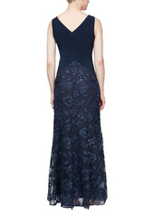 Alex Evenings Sleeveless Beaded Gown