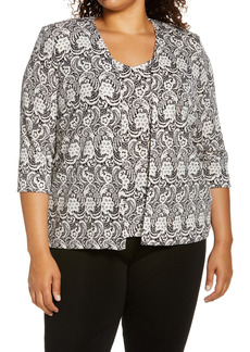 Alex Evenings Sparkle Twinset (Plus Size)