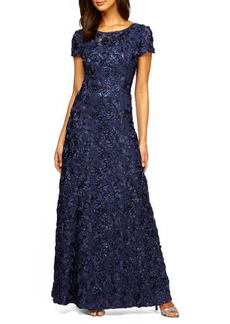 Women's Alex Evenings Embellished Lace A-Line Gown
