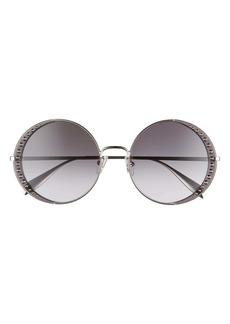 Alexander McQueen 57mm Gradient Round Sunglasses