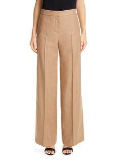 Alexander McQueen Camel Hair Wide Leg Pants