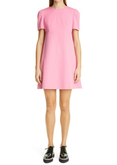 Alexander McQueen Cape Back Wool Crepe Minidress