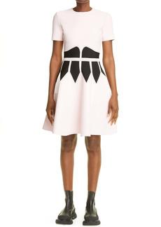 Alexander McQueen Contrast Corset Sweater Dress