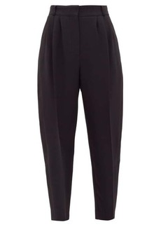 Alexander McQueen Copped satin side-panelled trousers