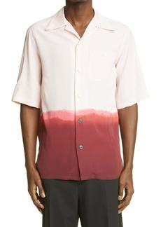 Alexander McQueen Dip Dye Short Sleeve Button-Up Shirt