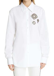 Alexander McQueen Embroidered Patch Men's Button-Up Shirt