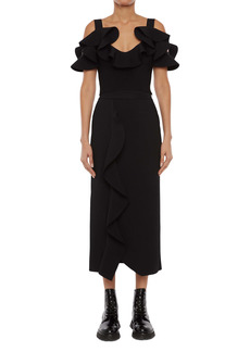 Alexander McQueen Engineered Sculpted Knit Pencil Skirt