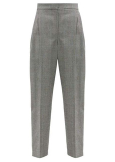 Alexander McQueen Prince of Wales-check wool-blend twill trousers