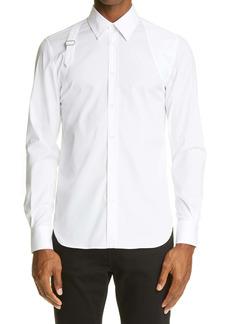 Alexander McQueen Harness Stretch Poplin Men's Button-Up Shirt