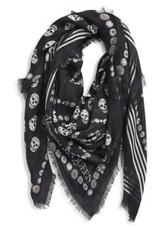 Alexander McQueen Jewel & Button Print Scarf
