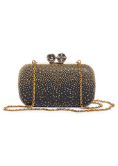 Alexander McQueen King & Queen Skull Studded Leather Box Clutch