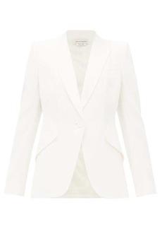 Alexander McQueen Single-breasted leaf-crepe jacket