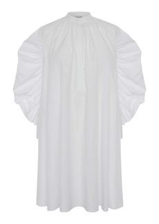 Alexander McQueen Long Sleeve Cotton Poplin Minidress